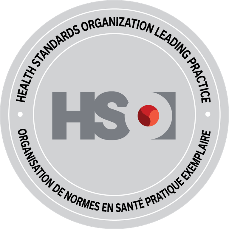 Health Standards Organization Leading Practice seal