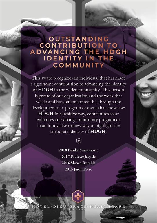 President's Award for Outstanding Contribution to Advancing the HDGH Identity in the Community. If you need this file in a different format, please contact Communications.