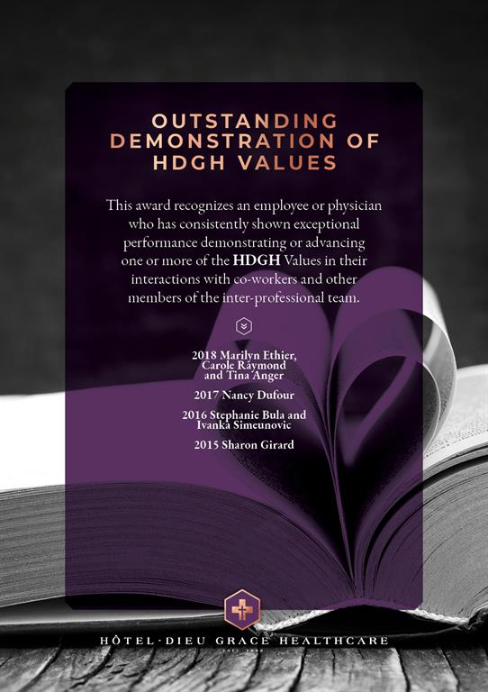 President's Award for Outstanding Demonstration of HDGH Values. If you need this file in a different format, please contact Communications.