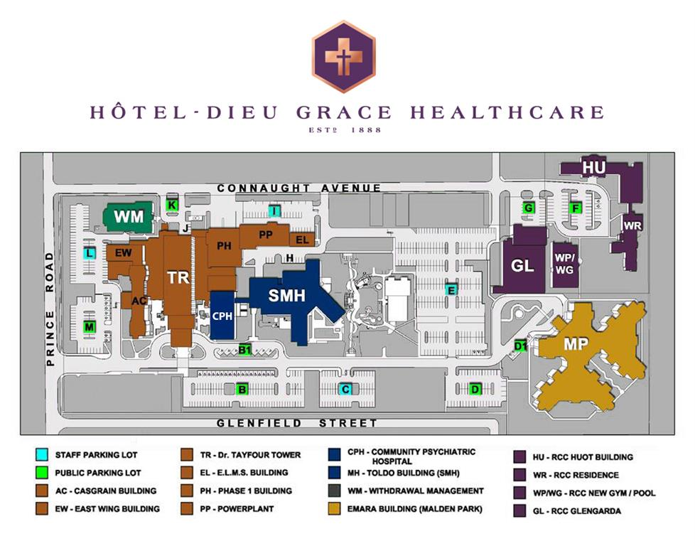 HDGH campus map