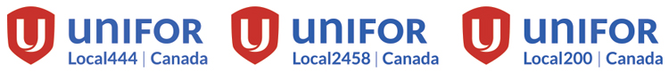 Unifor local logos