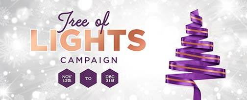 2019 Tree of Lights Campaign banner