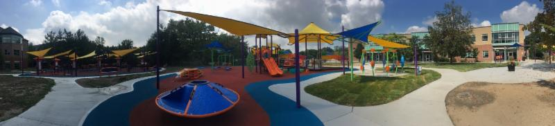 A one-of-a-kind outdoor recreation and wellness area benefitting ages 1 to 101