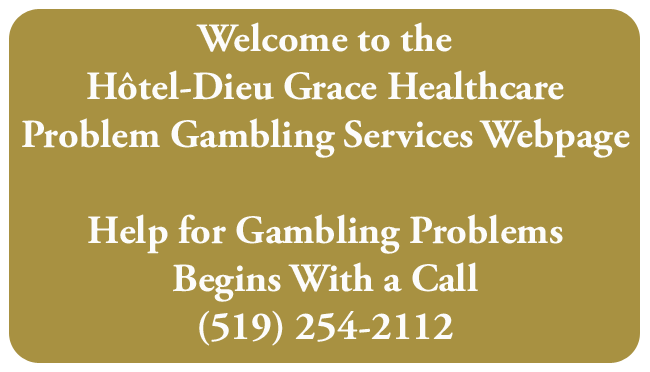 Gambling residential treatment ontario legal gambling sites usa
