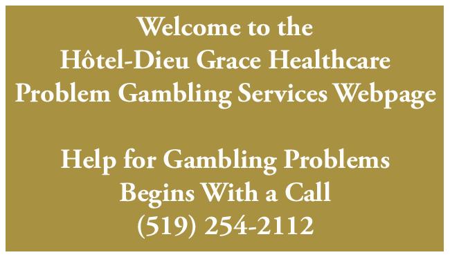 Problem gambling windsor